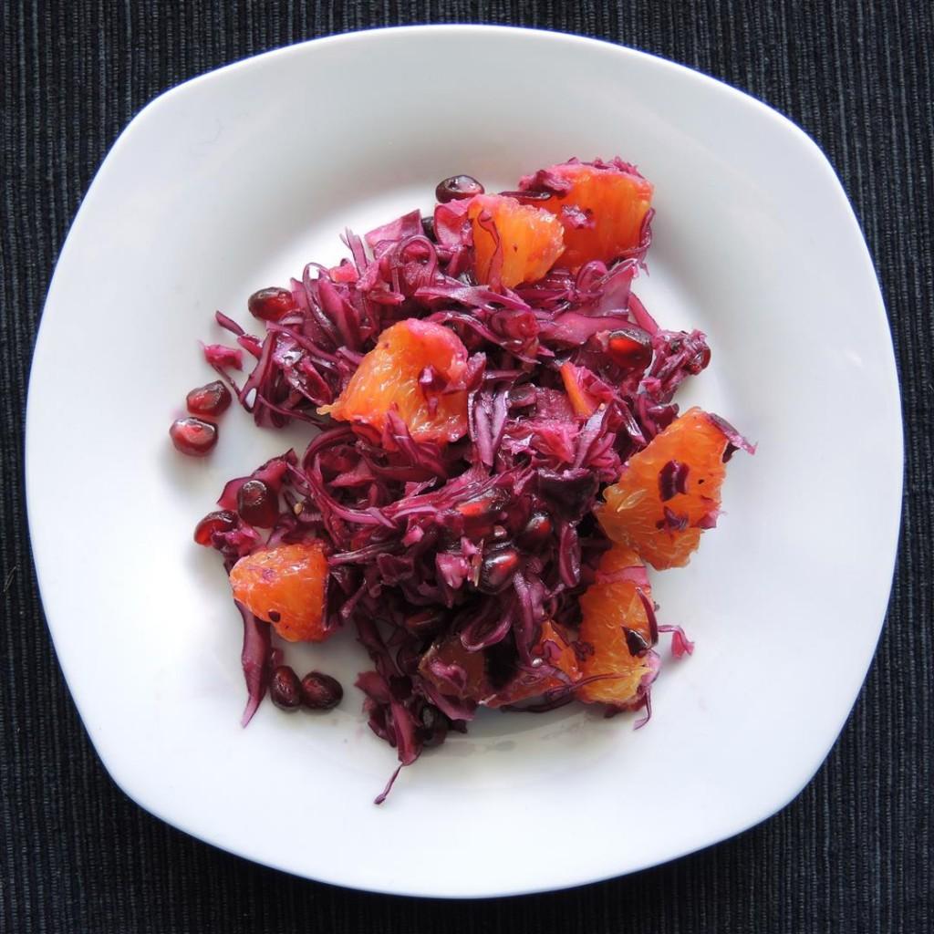 Rotkohl-Granatapfel-Salat (2)
